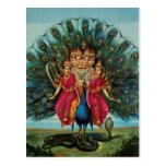 Murugan Kartikeyan Skanda Subrahmanyan Hindu Deity Postcards