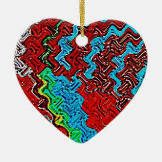 Musa del arte adorno navideño de cerámica en forma de corazón