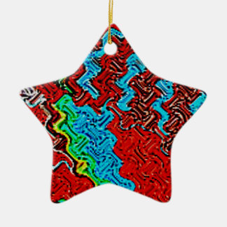 Musa del arte adorno navideño de cerámica en forma de estrella