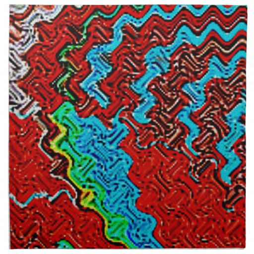 Musa del arte servilleta imprimida