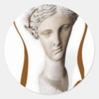musa griega de la poesía 2 pegatina redonda