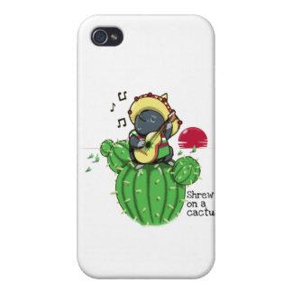 Musaraña en un cactus iPhone 4/4S carcasa