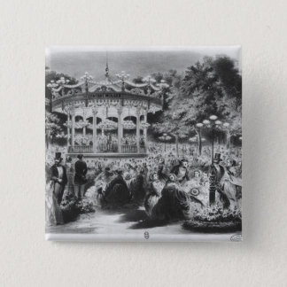 Musard concert at the Champs-Elysees, 1865 Button