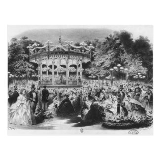 Musard concert at the Champs-Elysees, 1865 Postcard