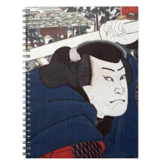 Musashi del miyamoto de Mukōjima Libro De Apuntes Con Espiral
