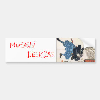 Musashi Designs Car Bumper Sticker