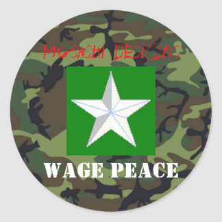 Musashi Designs Wage Peace Sticker