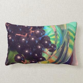 Muscadine Grapes and Transparent Glass Lumbar Pillow