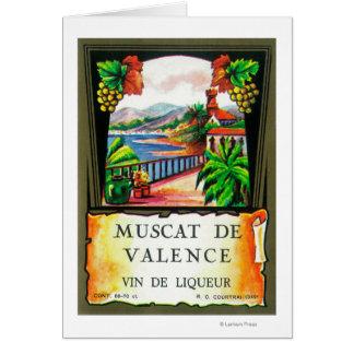 Muscat De Valence Wine LabelEurope Card