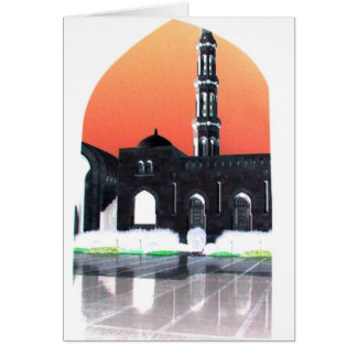 Muscat Mosque at Sunset Card