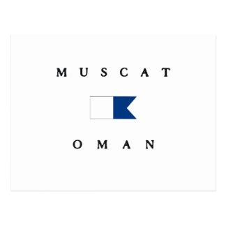 Muscat Oman Alpha Dive Flag Postcard