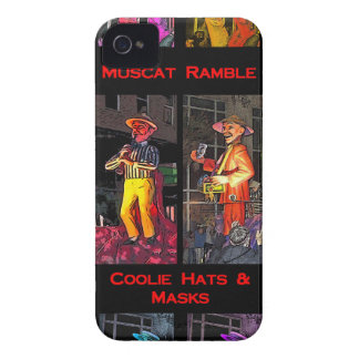 Muscat Ramble and Coolie Hats and Masks Case-Mate iPhone 4 Case