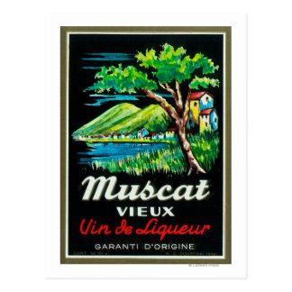 Muscat Vieux Wine LabelEurope Postcard