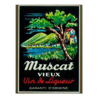 Muscat Vieux Wine LabelEurope Poster