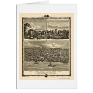 Muscatine City, IA Panoramic Map - 1875 Card