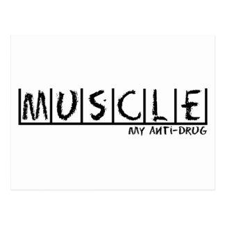 Muscle Anti-Drug Postcard