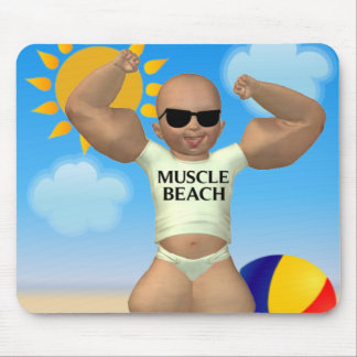 Muscle Beach Baby Mousepad