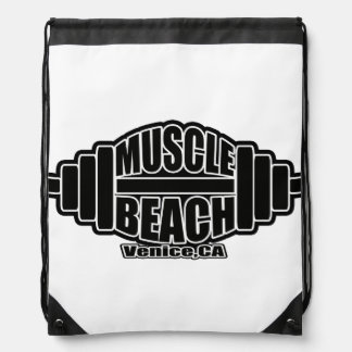 MUSCLE BEACH VENICE CA MUGS DRAWSTRING BAG
