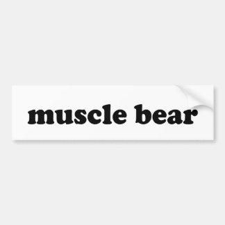 MUSCLE BEAR BUMPER STICKERS