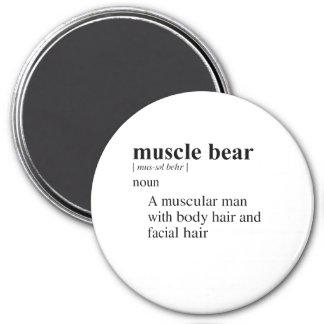 MUSCLE BEAR DEFINITION FRIDGE MAGNET