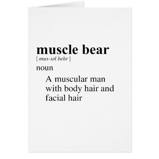 MUSCLE BEAR GREETING CARD