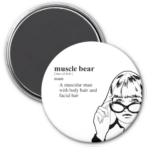 MUSCLE BEAR MAGNETS