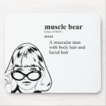MUSCLE BEAR MOUSE PAD