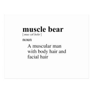MUSCLE BEAR POSTCARD