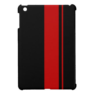 Muscle Black & RED Race Car Stripes iPad Mini Case