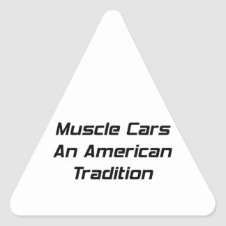 Muscle Car An American Tradition Sticker