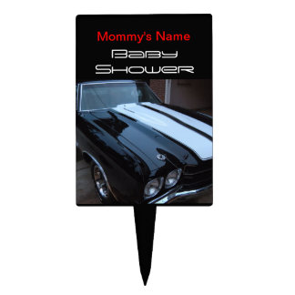 Muscle Car Baby Shower Cake Topper