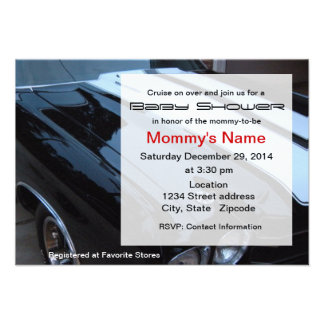 Muscle Car Baby Shower Invitation