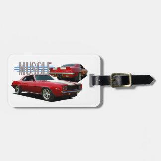 Muscle car bag tag