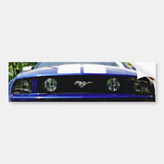 Muscle car-blue Bumper Sticker