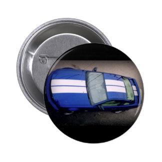Muscle car- blue Button