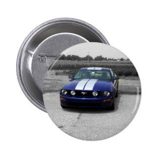 Muscle car Blue Button