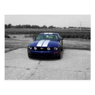 Muscle car Blue Postcard