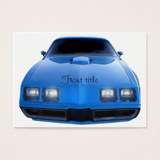 Muscle Car Business Card