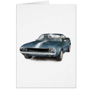 Muscle Car Card