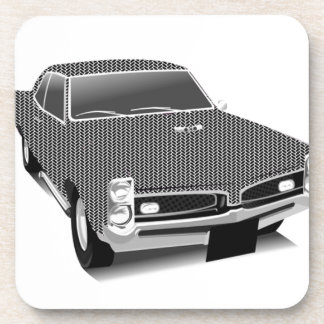 Muscle car beverage coaster