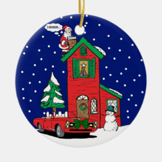 Muscle Car Gifts By Gear4gearheads Double-Sided Ceramic Round Christmas Ornament