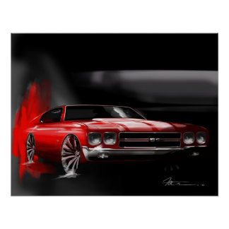 Muscle car Icon Print