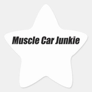 Muscle Car Junkie Star Sticker