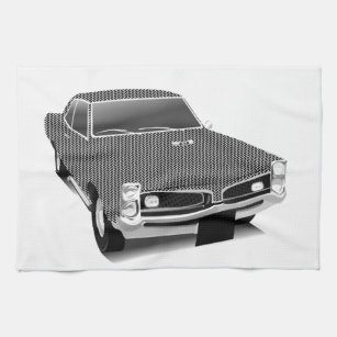Old Black Car Kitchen Hand Towels Zazzle