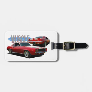Muscle car tag for luggage