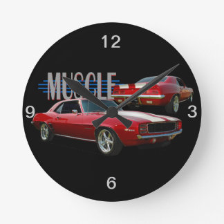 Muscle Car Round Clock