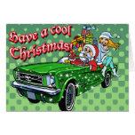 Muscle Car Santa Card