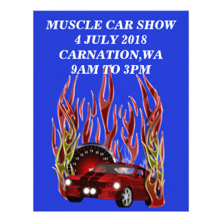Muscle car Show Flyer