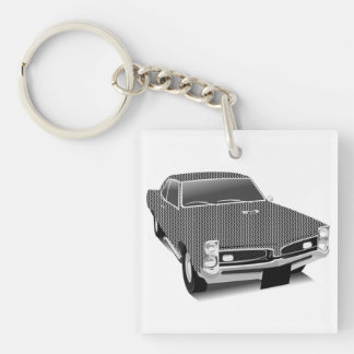 muscle car Single-Sided square acrylic keychain