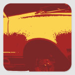 Muscle Car Square Sticker